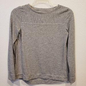 Loft striped long sleeve pull over top size Xs